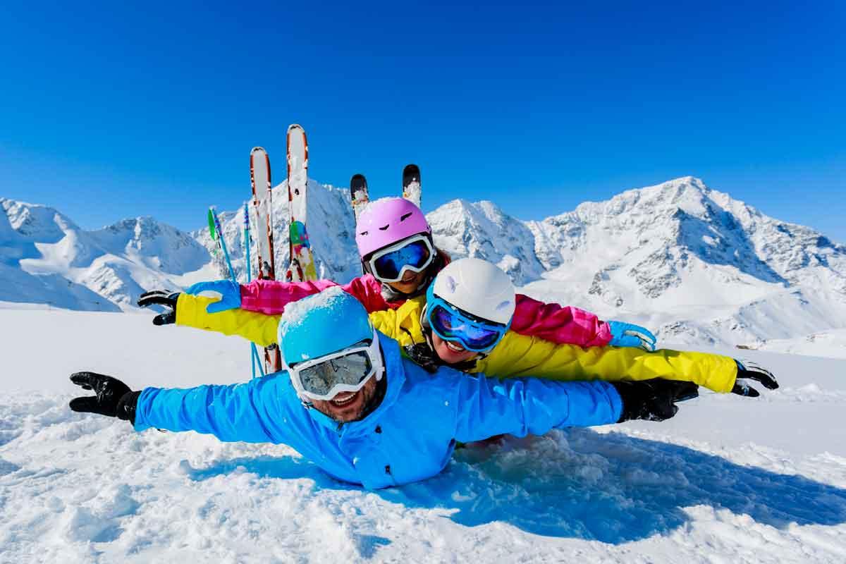 eenouder wintersport plezier