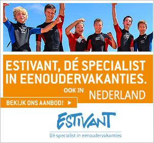 Estivant eenoudervakantie Nederland banner