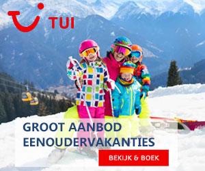TUI Eenoudervakanties wintersport banner
